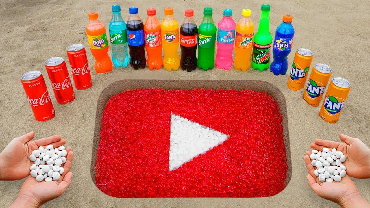 Download YouTube Logo in the Hole with Orbeez, Coca Cola, Mentos & Popular Sodas