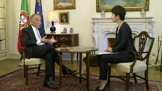 Chinese president xi jinping is making an official visit to portugal. earlier, liu xin interviewed portuguese marcelo rebelo de sousa about sino-po...