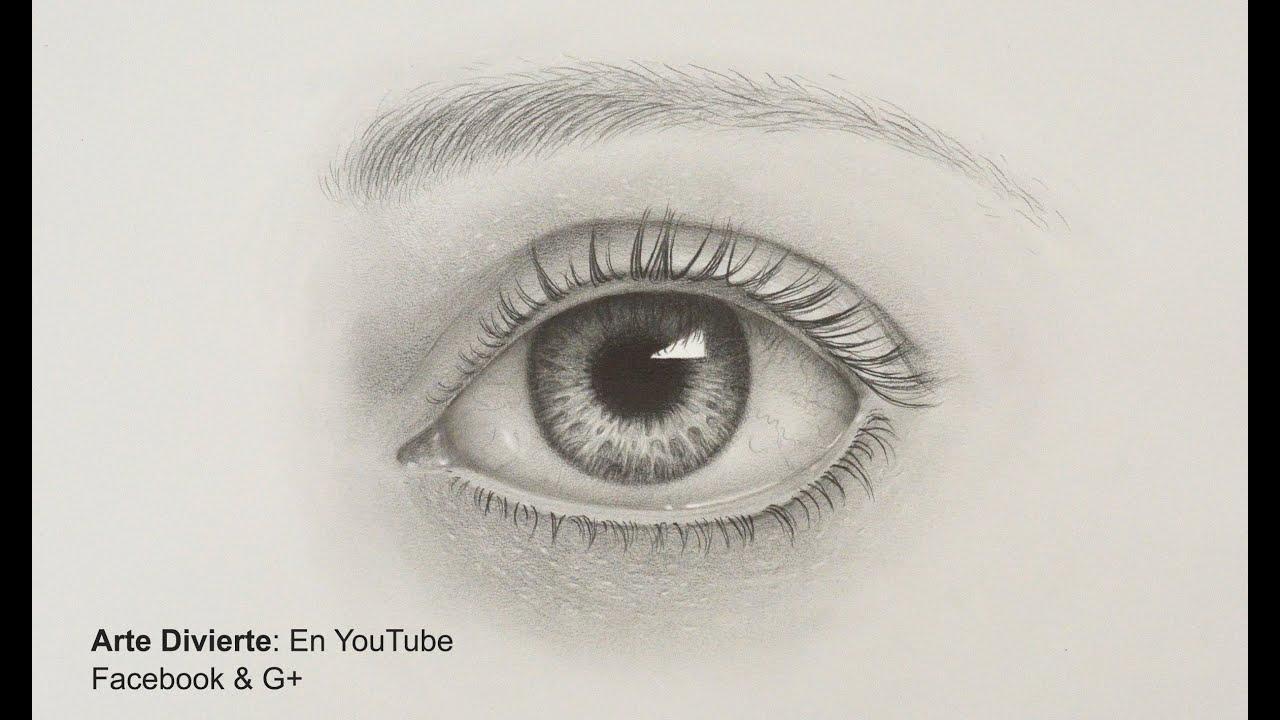Como Dibujar Un Ojo Realista A Lapiz Arte Divierte