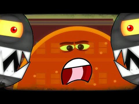 Суровый ЛИЗУН ГЛАЗАСТИК против БОССА роботов! Игра Tales From Space About A Blob с ПАПУЛЕЙ