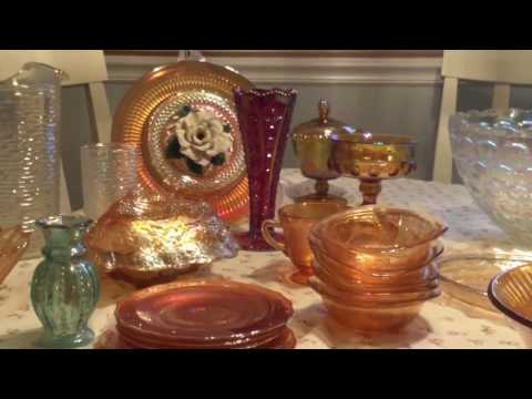 Carnival glass haul…Goodwill & Thrift stores …for Ebay resale