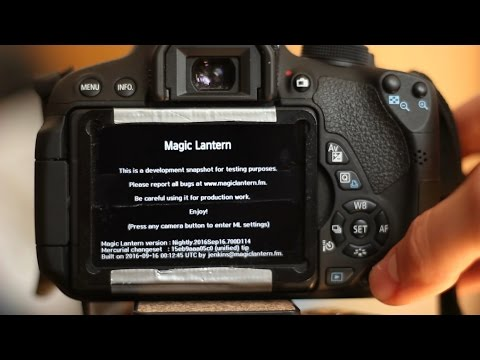 Съемка RAW-видео с Magic Lantern на Canon DSLR (ч.1) ПЕРЕВОД