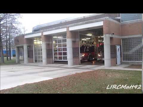 Columbus fire station responding to a fire Alarm at East Cloumbus high school