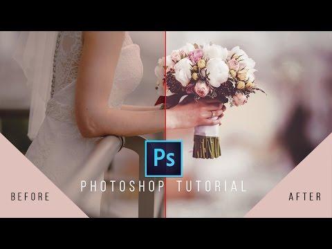 Photoshop Tutorial- Wedding Photo Edit   Color And Frame   Photoshop CC 2017
