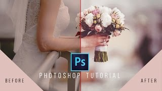 Photoshop Tutorial- Wedding Photo Edit | Color and Frame | Photoshop CC 2017