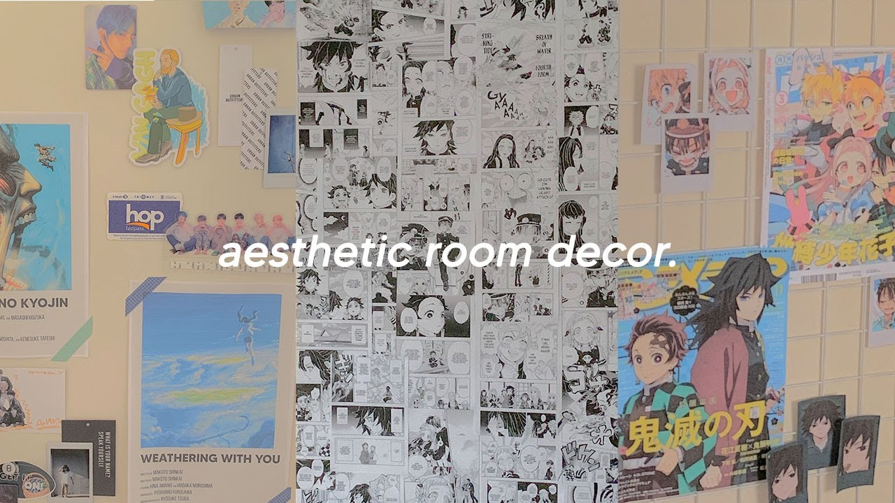 Room Decor Manga Wall Aesthetic Collages Photo Grids Youtube