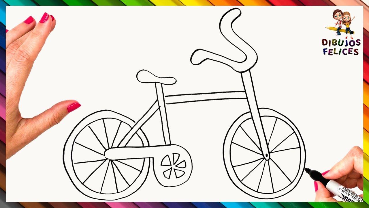 Cómo Dibujar Una Bicicleta Paso A Paso Dibujo Fácil De Bicicleta Youtube