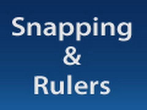Photoshop: Snapping And Rulers |