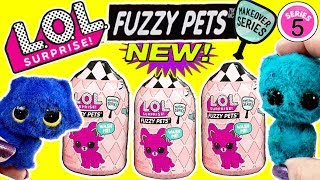 LOL Surprise Fuzzy Pets! LOL Dolls Get New LOL Pets LOL Surprise Makeover Series 5 LOL Dolls