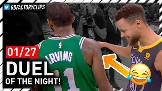 Stephen Curry vs Kyrie Irving EPIC PG Duel Highlights 20180127 - Steph Got Left Hanging