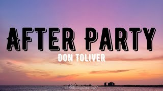 Don Toliver - After Party (Lyrics) feat. Travis Scott