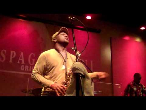 Marcus Anderson performs Working Day and Night Live at Spaghettinis