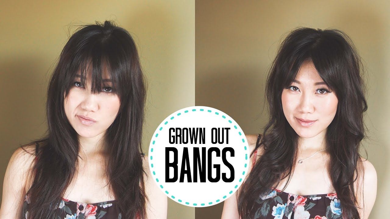 how to style hair without bangs tutorial styling bangs fringe 1542