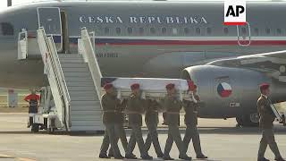 Czech leaders pay respects to three soldiers killed in Afghanistan