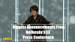 5 BIGGEST ANNOUNCEMENTS from Bethesda's E3 Press Conference - Bethesda E3 Recap