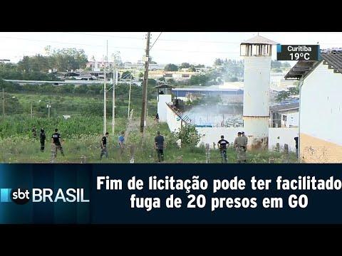 Fim de licitação pode ter facilitado fuga de 20 presos em Goiás   SBT Brasil (20/07/18)