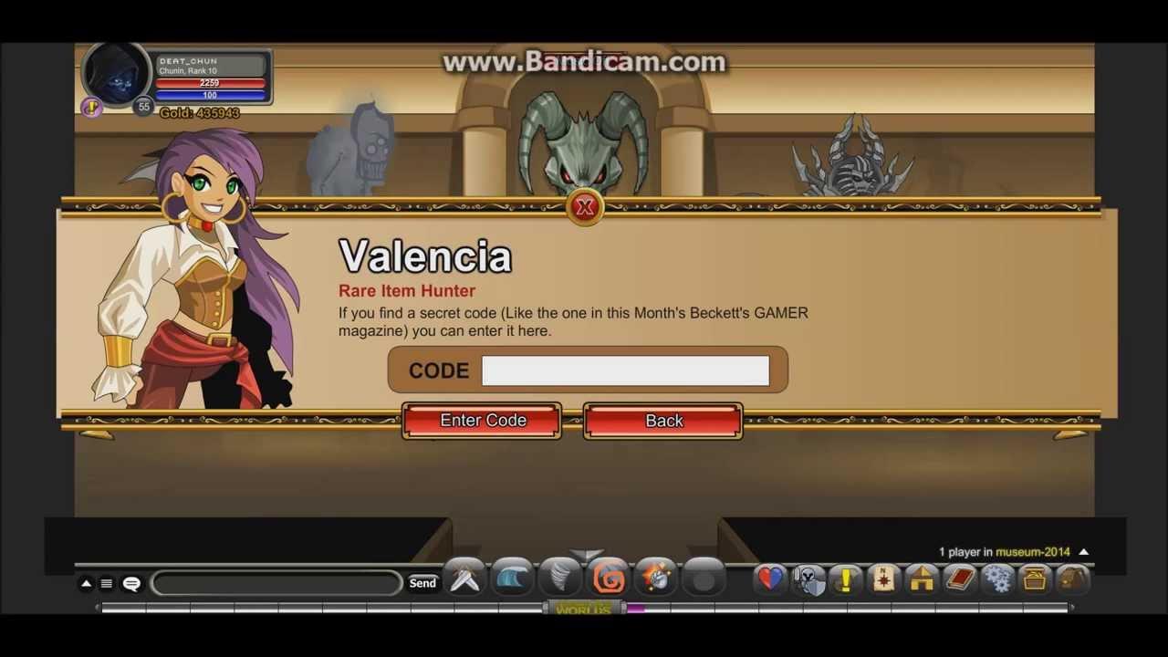 AQW 3rd valencias code - YouTube