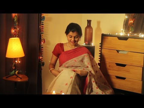 Celebration of womanhood - Bengali Laal Paar Saaree | Navratri Special | Day 1 | Dher Saree Baatein