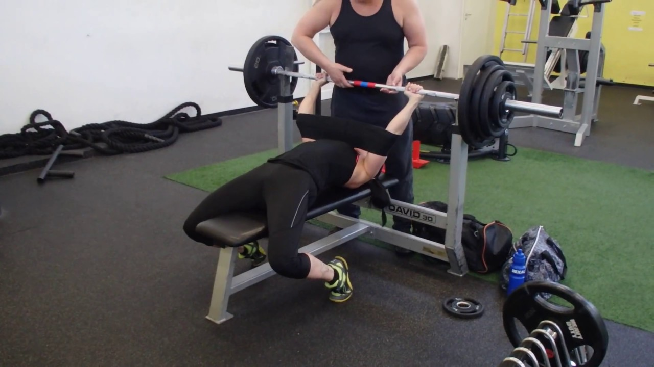 Benching Own Weight Part - 26: Bench Press 95 Kg With Slingshot Woman Own Weight 62 Kg