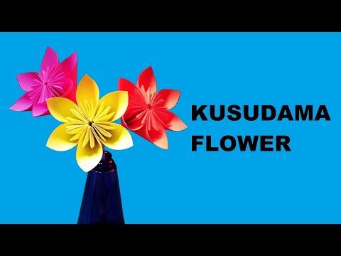 Kusudama Flower   How to make an Origami Kusudama Flower   Paper Flower