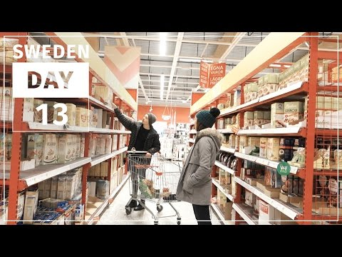 Shopping at a Swedish SUPERmarket | SWEDEN #13