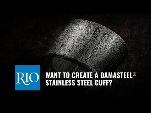 Forming a Damasteel® Stainless Steel Cuff Bracelet
