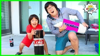 Science Experiment Coca Cola vs Mentos