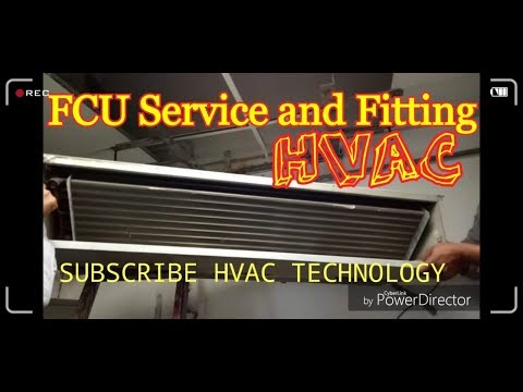 #FanCoilUnit (#FCU) How To Service and installaion Related To #HVAC in Hindi\Urdu
