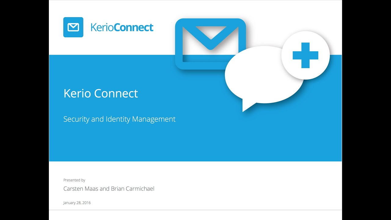 Kerio Connect Security And Identity Management