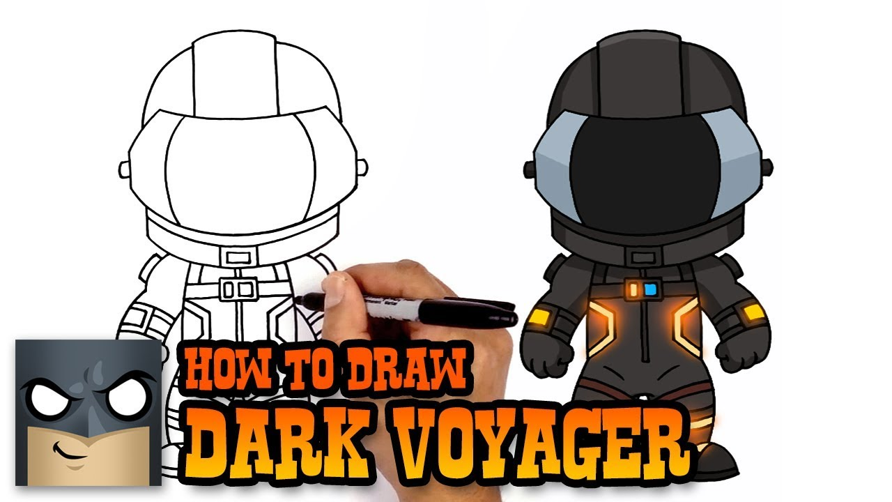 How To Draw Dark Voyager Fortnite Art Tutorial Youtube