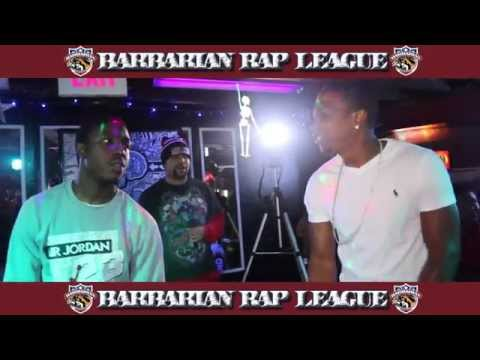 Gemstar Da Goldenchild vs G-Money Barbarian Rap League Battle