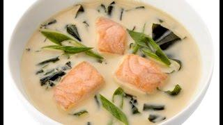 Норвежский суп из трески и лосося