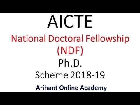 AICTE NDF Ph.D   National Doctoral Fellowship Program 2018-2019