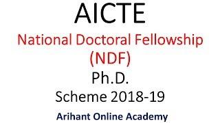 AICTE NDF Ph.D | National Doctoral Fellowship Program 2018-2019