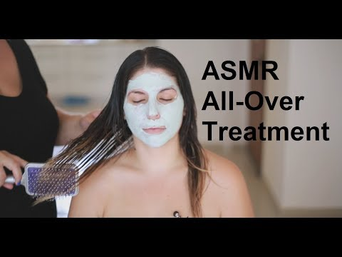 ASMR Scalp, Back, Shoulders, Neck & Face Massage | Hair Treatment | Coconut Oil | No Talking