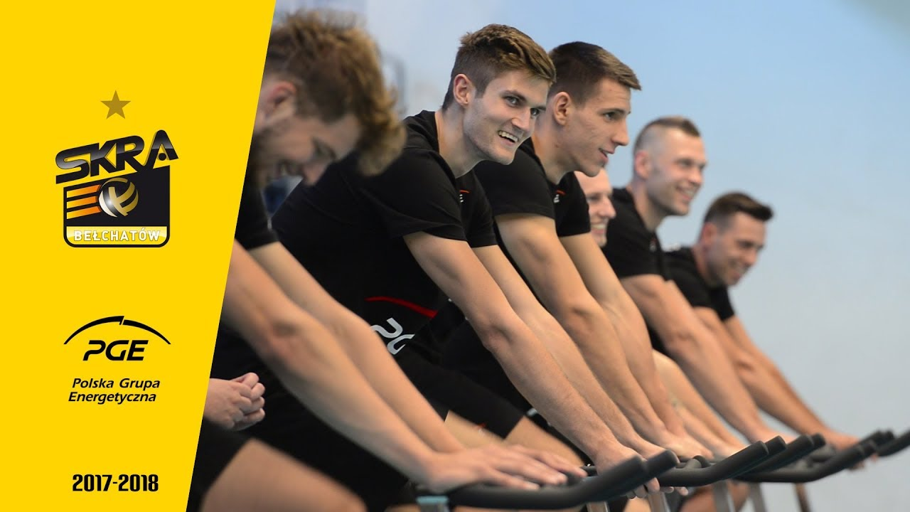 Czas start! Siatkarze PGE Skry trenują na rowerkach spinningowych