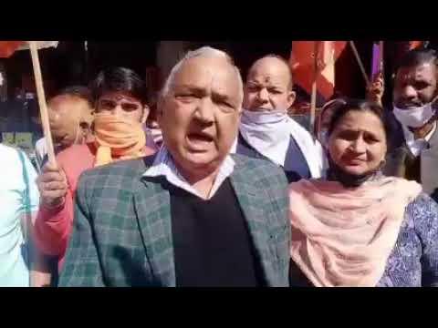 हिमाचल कांग्रेस पर भड़के भाजपा विधायक रमेश धवाला । रिपोर्ट रवि कुमार