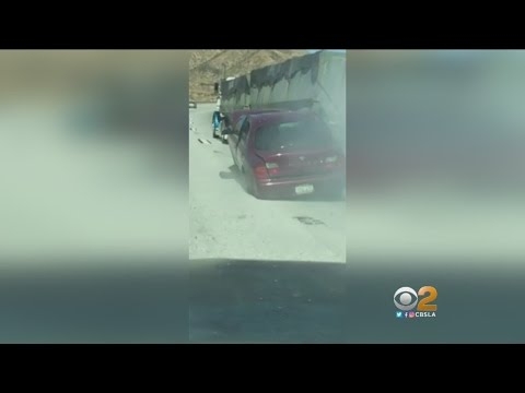 Caught On Video: Truck Drags Car 4 Miles Up Cajon Pass