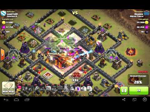 Clash of Clans - Golemite takes down town hall when destroyed