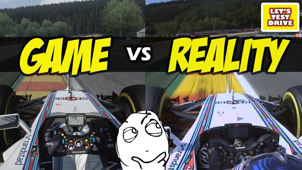 F1 real vs virtual by Youtube Foto Reprodução