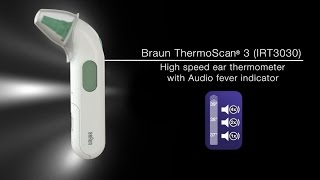 Braun ThermoScan 3 ear thermometer (IRT3030)