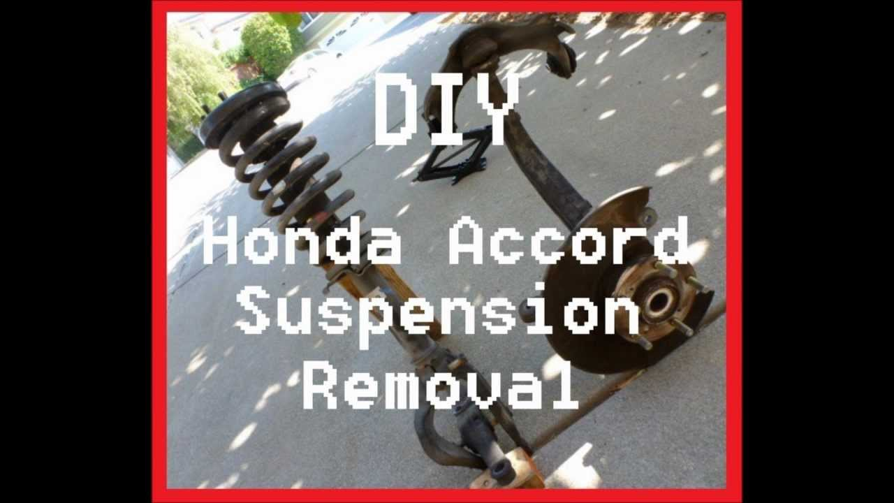 DIY Honda Accord Front Suspension Removal  YouTube