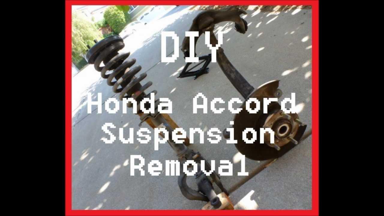 diy honda accord front suspension removal [ 1280 x 720 Pixel ]