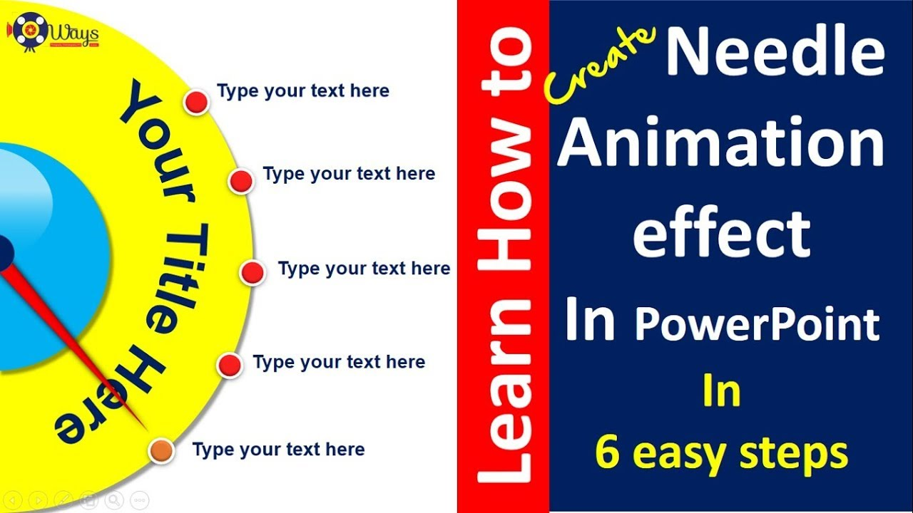 How to create Needle Animation Effect in PowerPoint in 6 easy steps - Free  download
