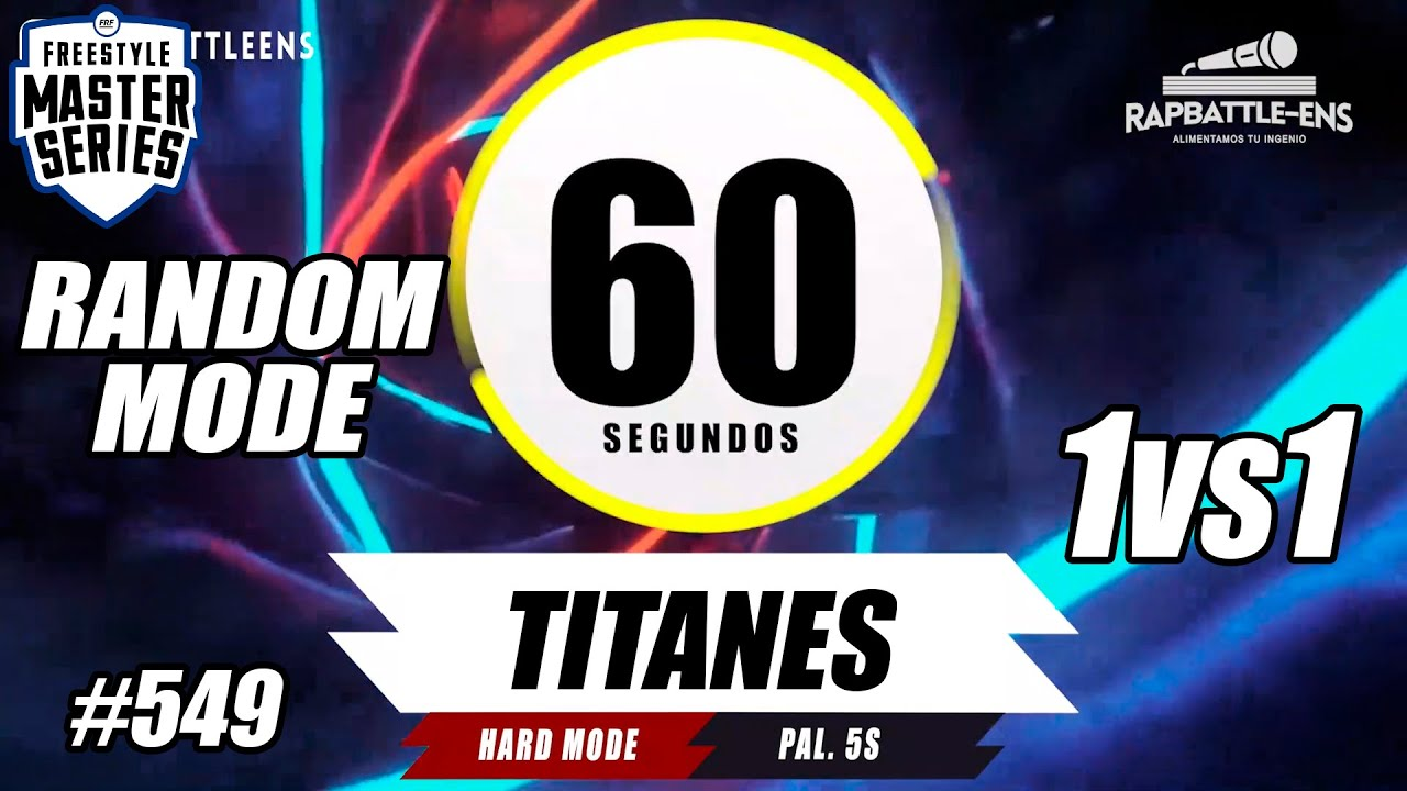 Formato FMS Perú: Base de Rap Para Improvisar Con Palabras | RANDOM MODE | RAPBATTLE-ENS | #549