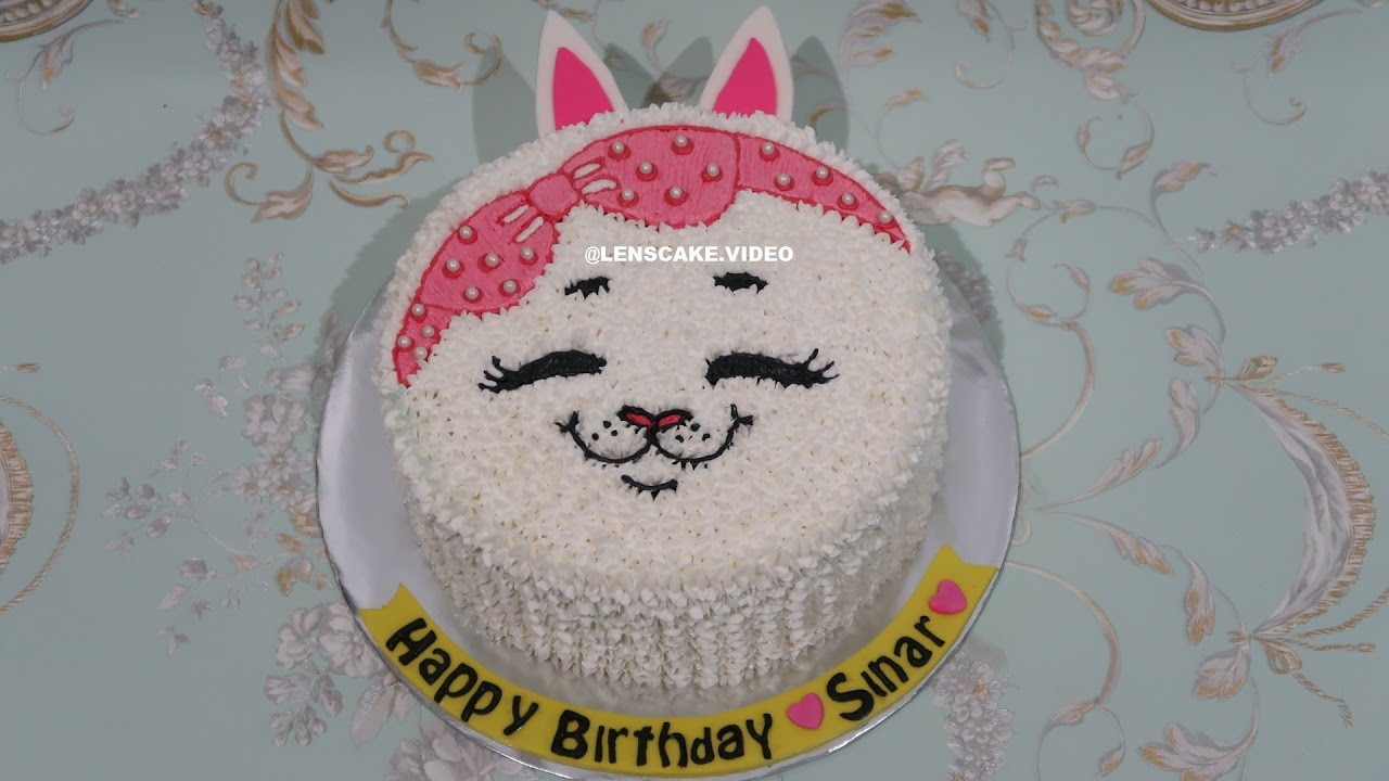 Cat Cake Tutorial Easy How To Make Birthday Cake Cara Membuat Kue Ulang Tahun