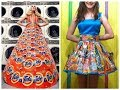 Recycled plastic bags dress 👗 designs