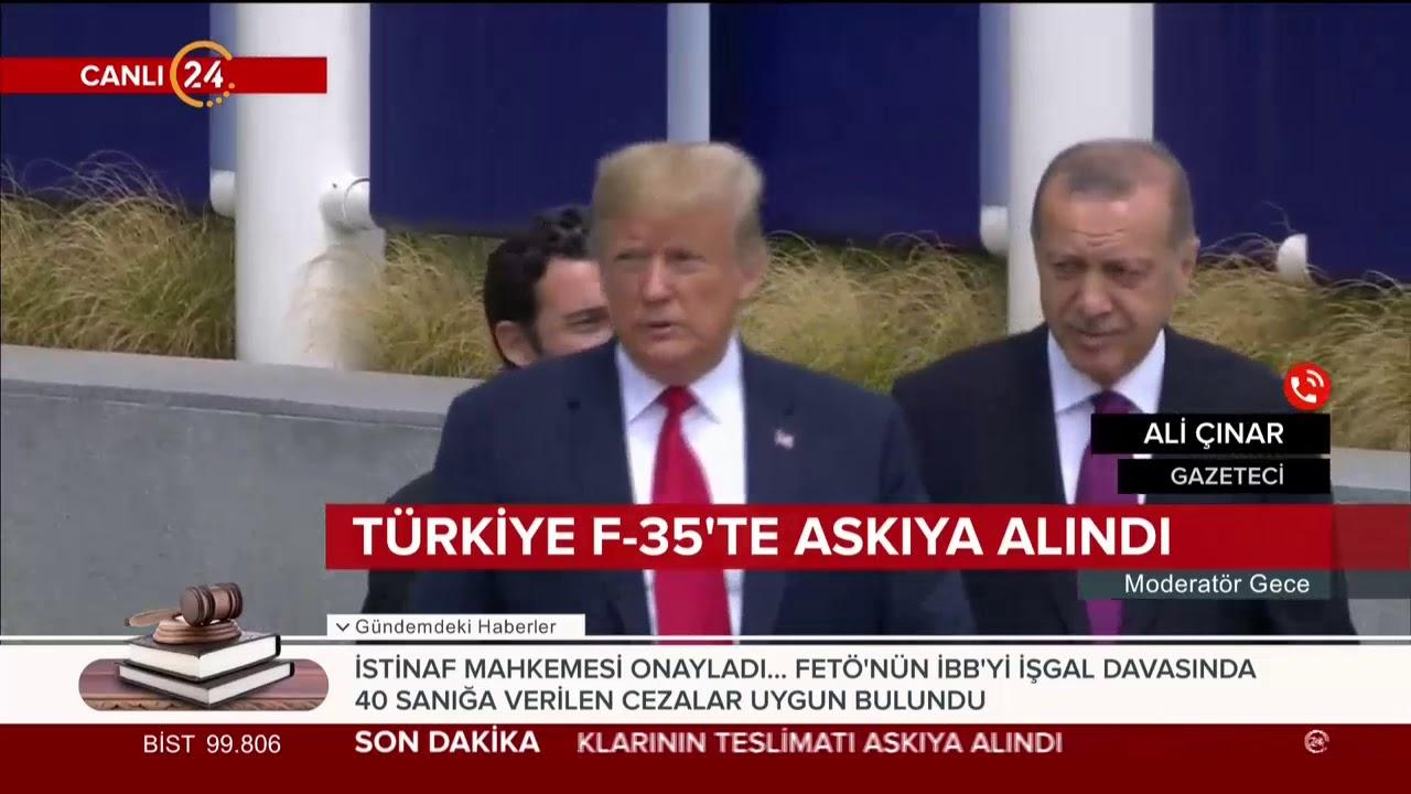 Türkiye F-35'te askıya alındı
