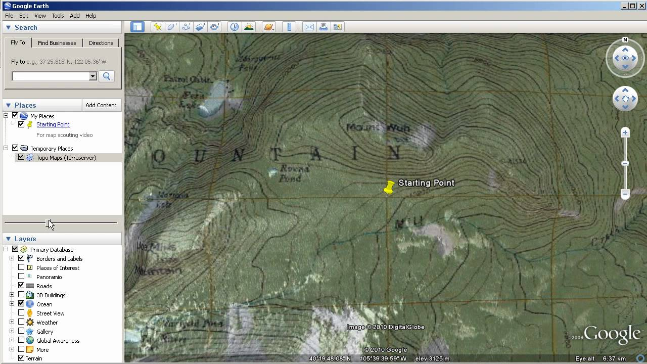 map scouting with google earth basic mapping and hybrid maps