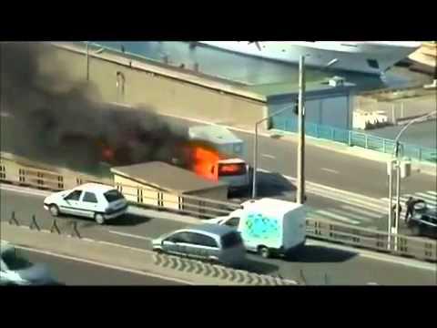 Scarfacebende Marseille Armoured Car Heist Footage Audi RS4 RS6